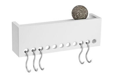 Furniture - Bookcases & Bookshelves - So-Hooked Shelf - Coat hanger -  hooks by Nomess - White - MDF