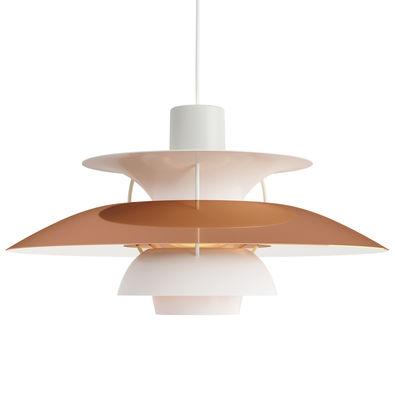 Illuminazione - Lampadari - Sospensione PH 5 - / Ø 50 cm - Finitura opaca di Louis Poulsen - Rame / Bianco - Aluminium étiré, Cuivre étiré