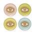 Sottobicchiere Le wink - / Set da 4 - Porcellana & oro di Jonathan Adler