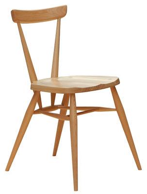 Möbel - Stühle  - Stacking Stuhl / Neuauflage des Originals aus dem Jahr 1957 - Ercol - Holz natur - massive Buche, Massivulme