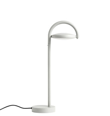 Lighting - Table Lamps - Marselis Table lamp - / Adjustable diffuser - H 38 cm by Hay - Ash grey - Aluminium, Fonte de sable, Nylon, Polycarbonate, Steel