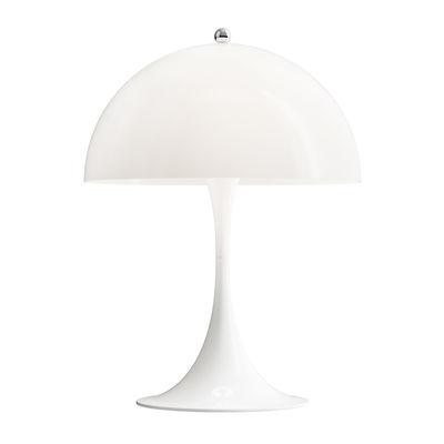 Lighting - Table Lamps - Panthella Mini LED Table lamp - / H 33.5 cm - Acrylic by Louis Poulsen - Opal white - Acrylic, Aluminium