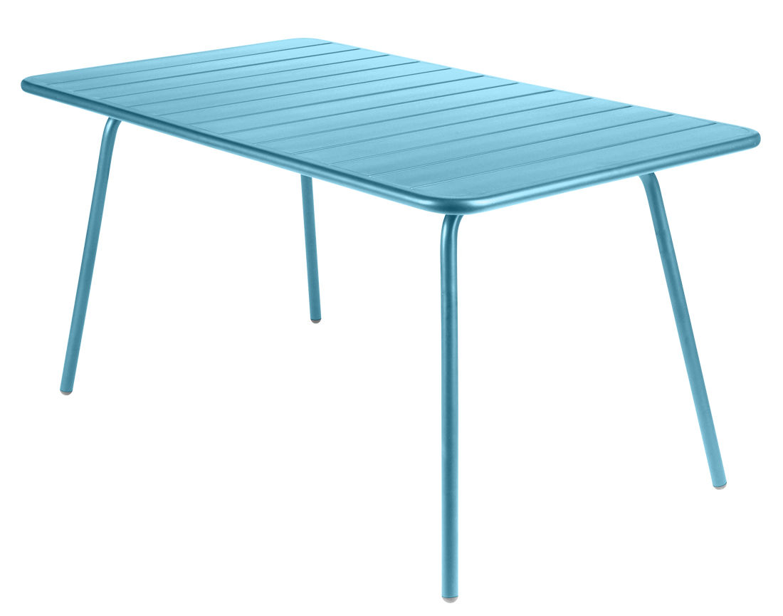 Life Style - Luxembourg Table - Rectangular - 6 persons - L 143 cm by Fermob - Turquoise - Lacquered aluminium