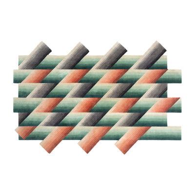 Déco - Tapis - Tapis Mirage by Patricia Urquiola / 200 x 310 cm - Noué main - Gan - Orange - Laine