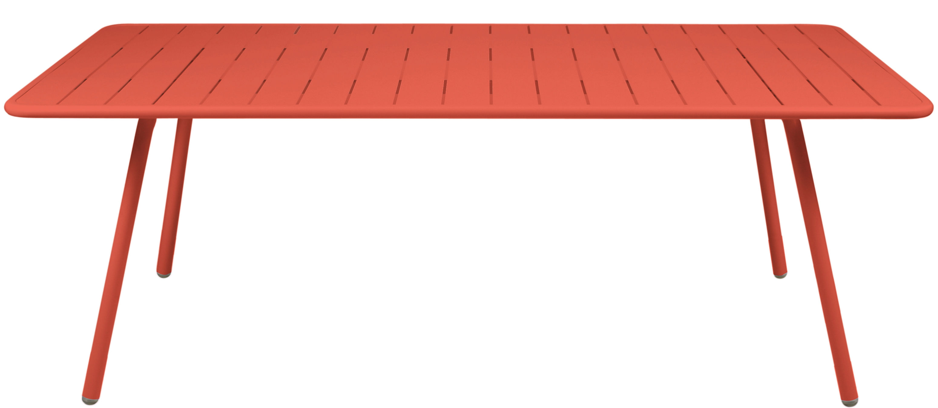 Life Style - Tavolo rettangolare Luxembourg - / 8 persone - L 207 cm di Fermob - Nasturzio - Alluminio laccato
