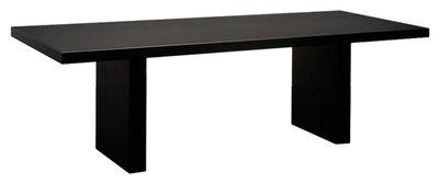 Arredamento - Tavoli - Tavolo rettangolare Tommaso - Versione acciaio di Zeus - 180 x 90 cm / Nero - Acciaio fosfatato
