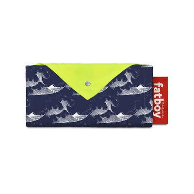 Jardin - Parasols - Tente de plage Miasun / Pliable & nomade - 150 x 220 cm - Fatboy - Mochi / Vagues fond bleu - Aluminium, Coton