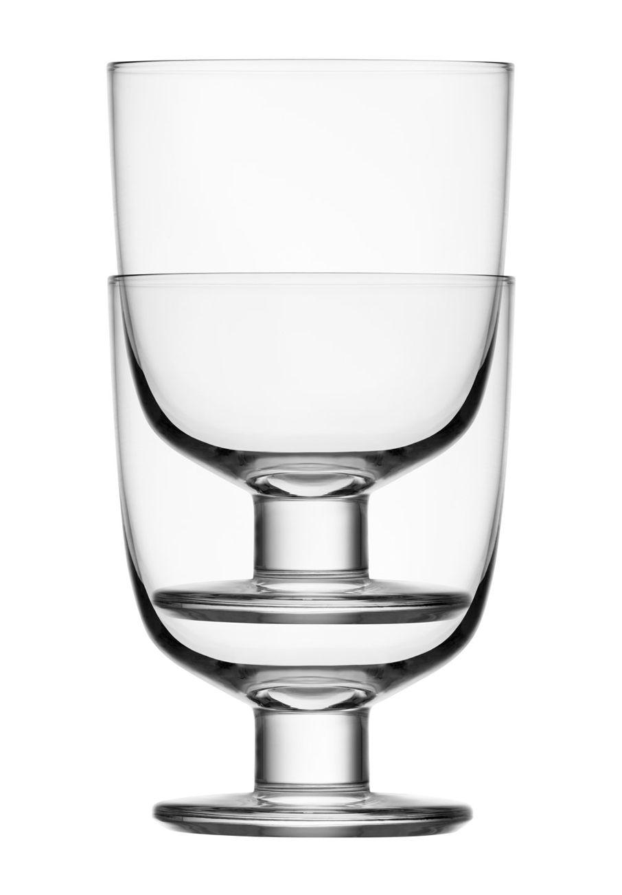 Arts de la table - Verres  - Verre Lempi / Set de 2 - 34 cl - Iittala - Transparent - Verre soufflé