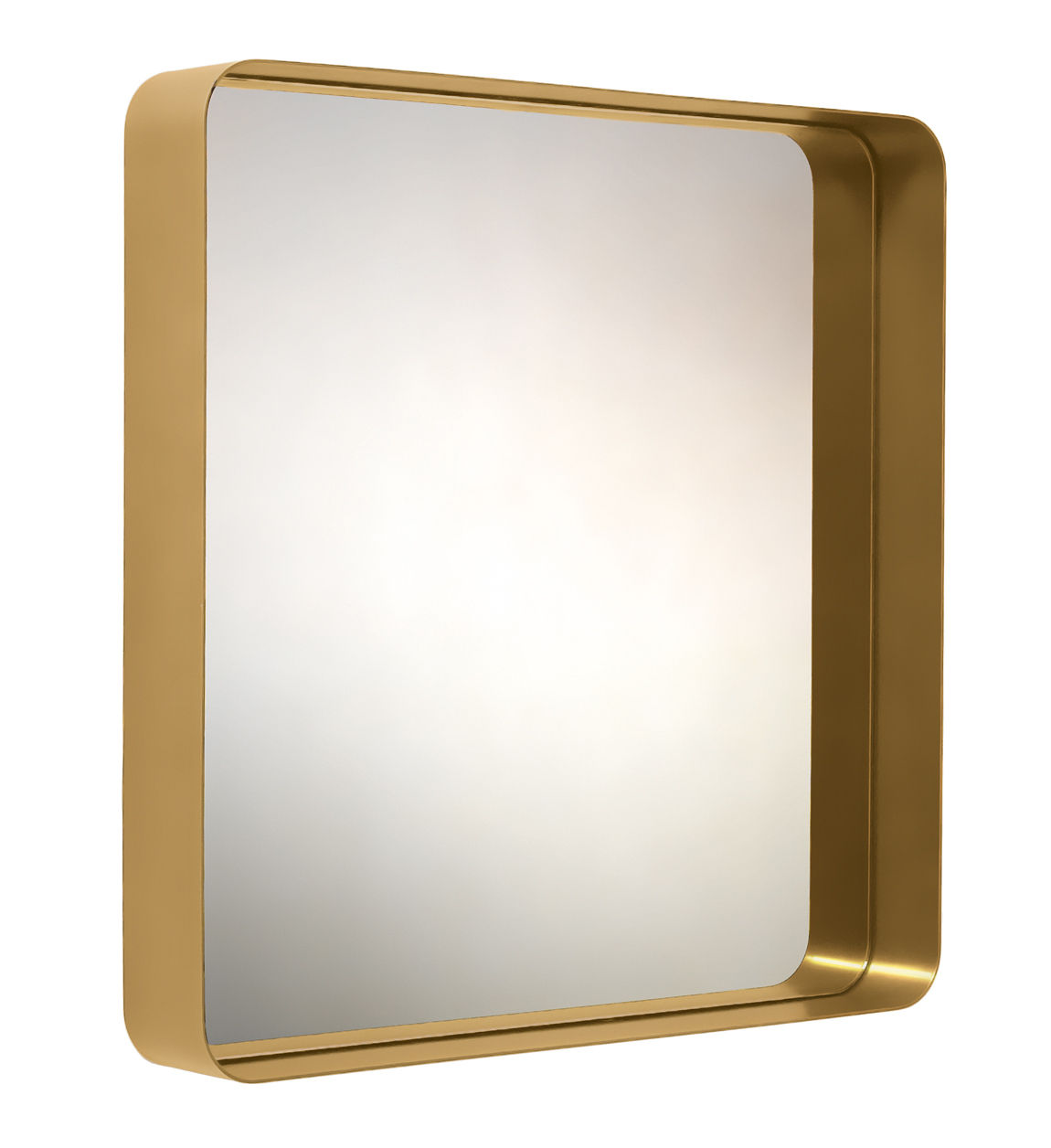 Decoration - Mirrors - Cypris Wall mirror - 70 x 70 cm by ClassiCon - Gold / Silver glass - Glass, Solid brass