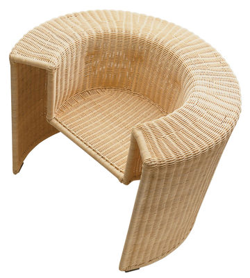 Furniture - Armchairs - Charlotte Armchair - Rattan / Hand made by Horm - Natural rottan - Painted steel, Woven rattan