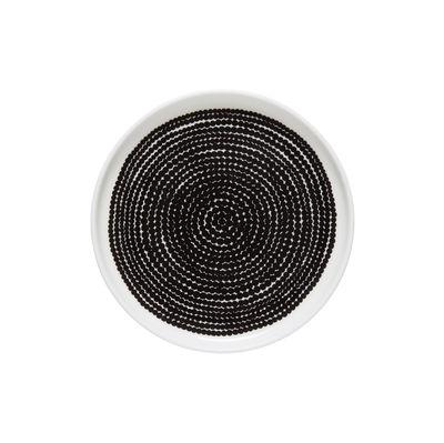 Assiette à mignardises Räsymatto / Ø 13,5 cm - Marimekko blanc,noir en céramique