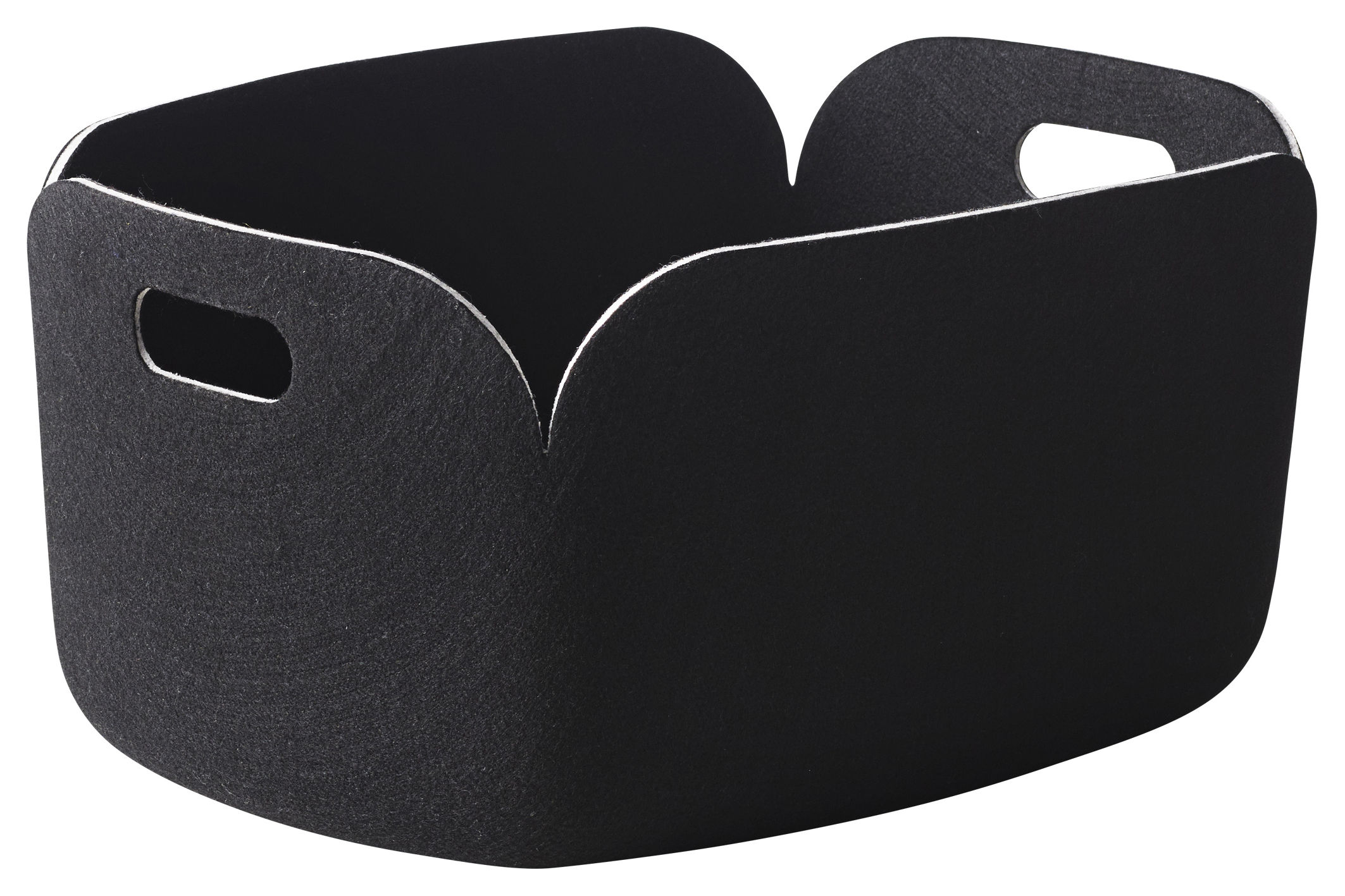 Decoration - Boxes & Baskets - Restore Basket - 100% recycled by Muuto - Black - Felt
