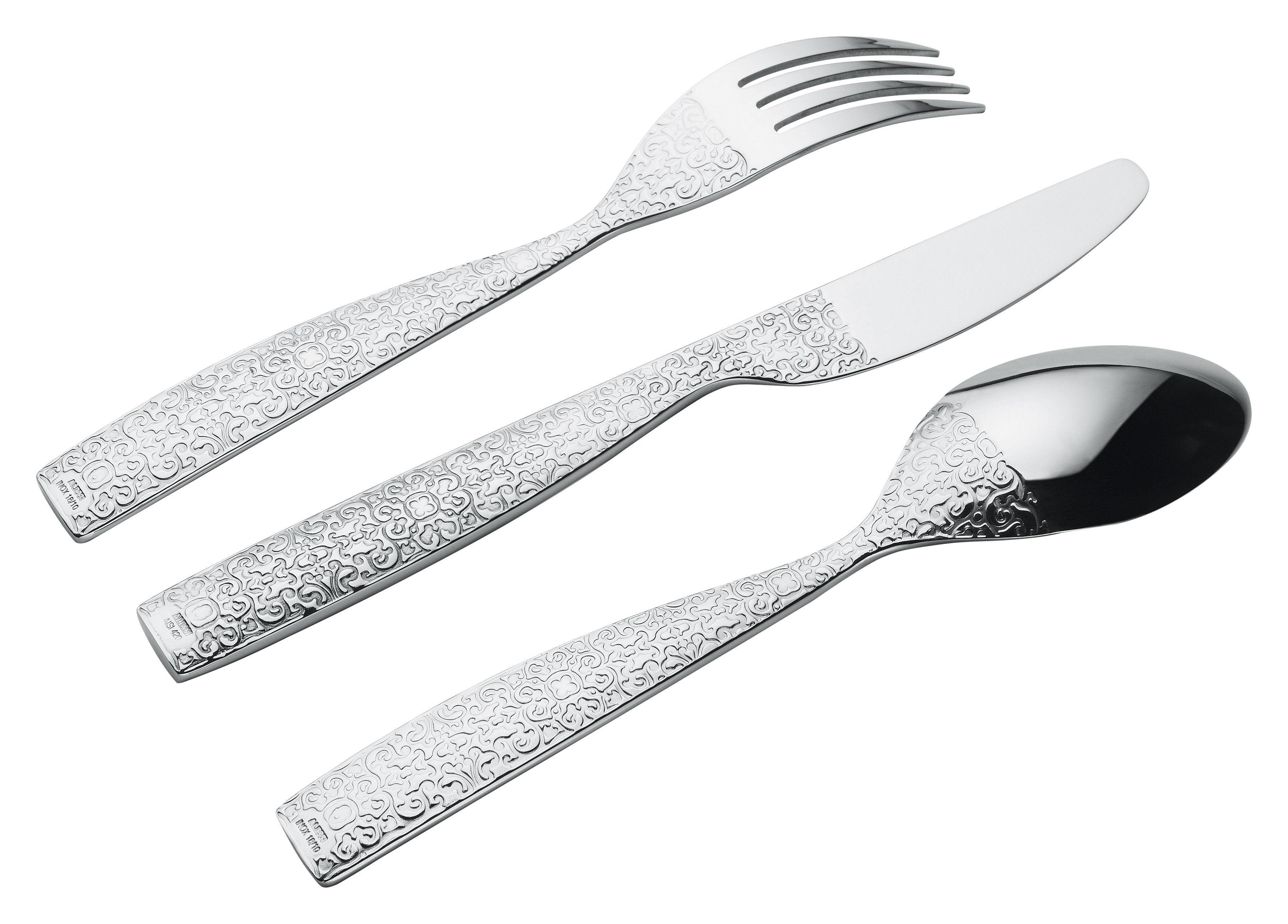 Tischkultur - Bestecke - Dressed Besteckgarnitur 24 Teile - Alessi - 24 Teile - Edelstahl glänzend - rostfreier Stahl