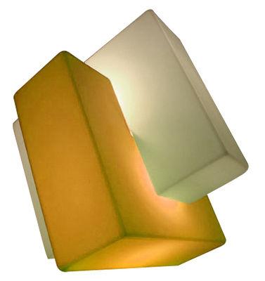 Leuchten - Bodenleuchten - Pzl Bodenleuchte - Slide - Weiß / orange - recycelbares Polyethen