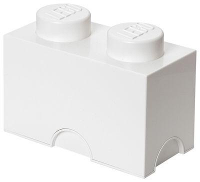 Déco - Pour les enfants - Boîte Lego® Brick / 2 plots - Empilable - ROOM COPENHAGEN - Blanc - Polypropylène