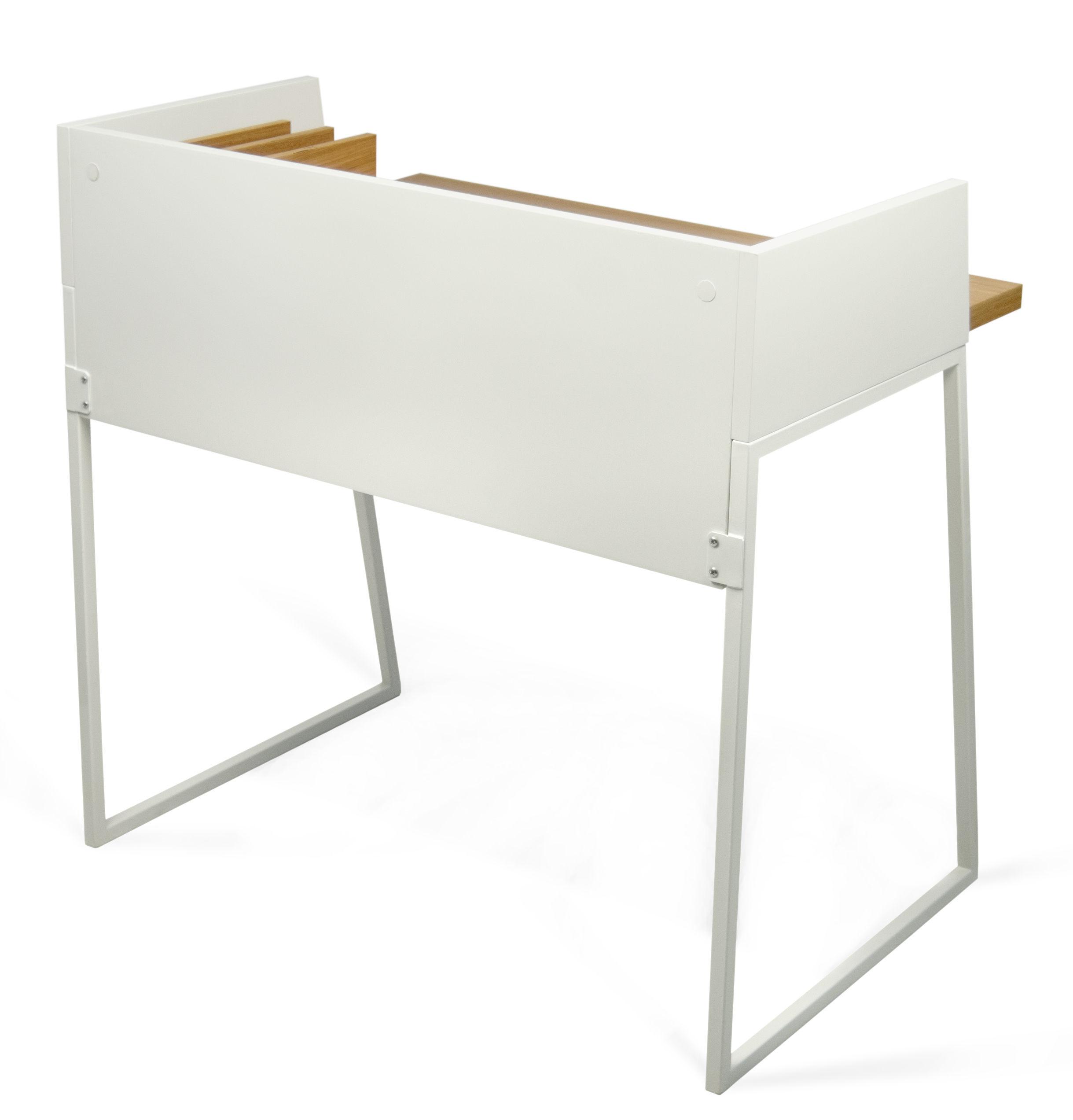 bureau working pop up home blanc ch ne l 90 x h 88 made in design. Black Bedroom Furniture Sets. Home Design Ideas