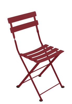 Chaise enfant Tom Pouce / Pliante - Acier - Fermob piment en métal