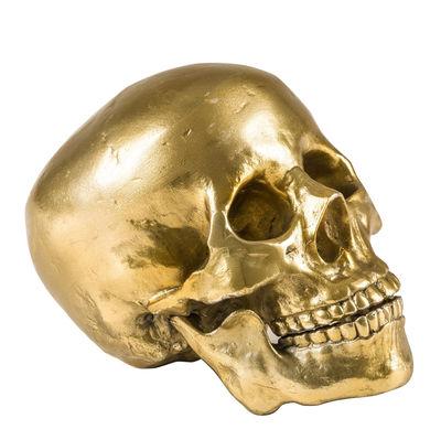 Déco - Objets déco et cadres-photos - Décoration Human-Skull / Crâne en métal - Diesel living with Seletti - Or - Aluminium peint