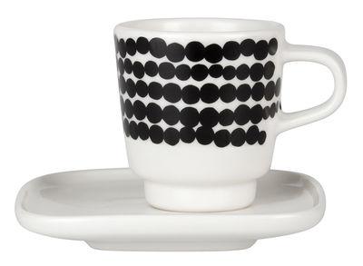Tavola - Tazze e Boccali - Espresso tazza Siirtolapuutarha di Marimekko - Räsymatto - nero & bianco - Porcellana smaltata