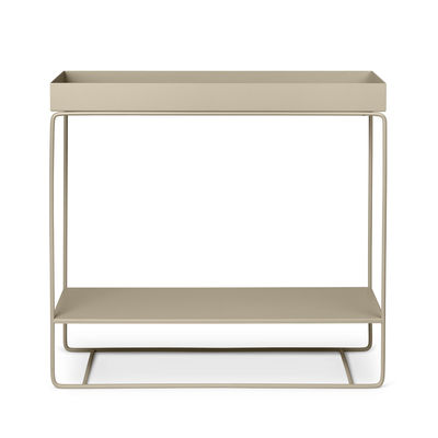 Jardinière sur pied Plant Box / 2 niveaux - L 80 x H 75 cm x Prof. 25 cm - Ferm Living beige cachemire en métal