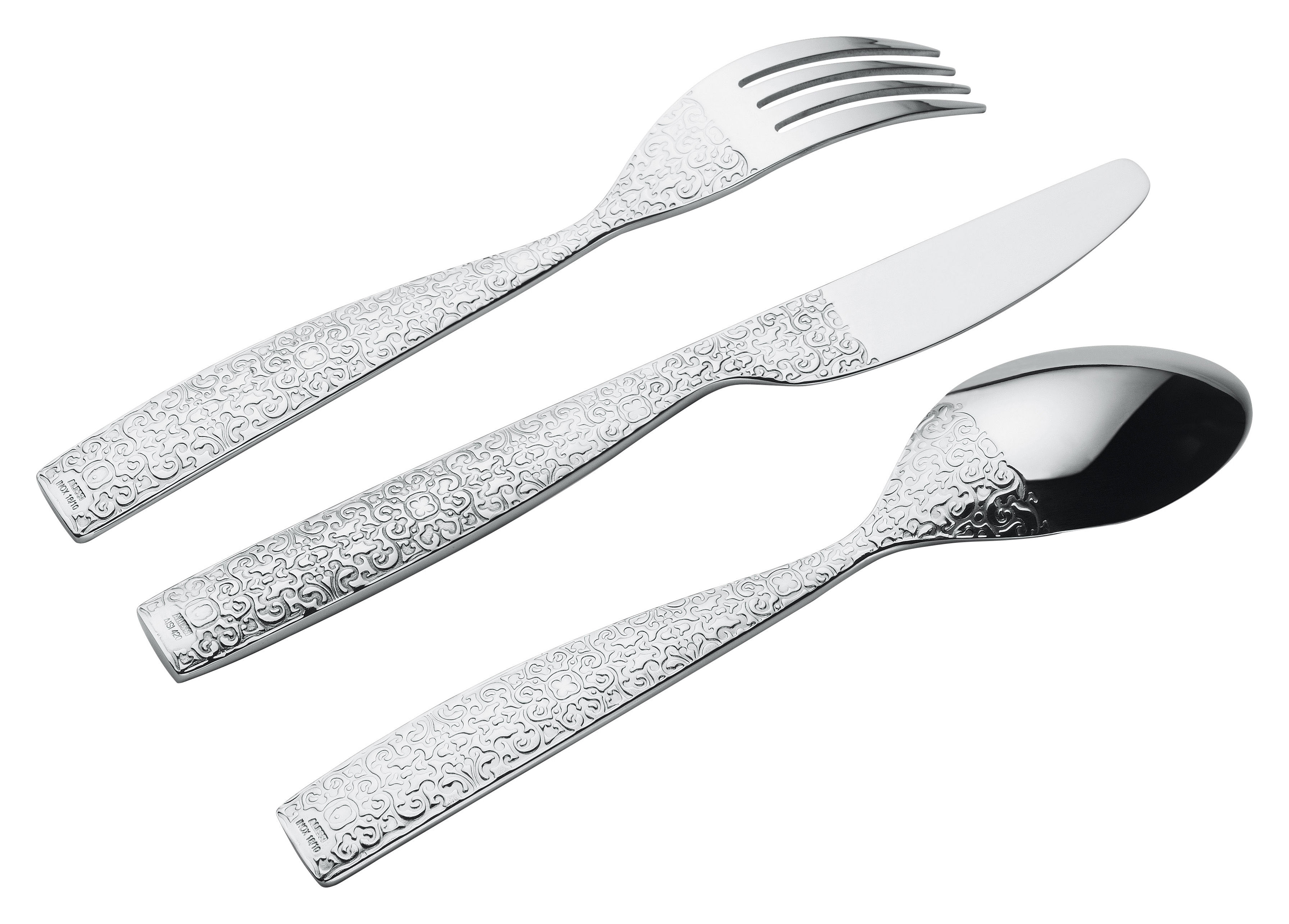 Tableware - Cutlery - Dressed Kitchen cupboard - 24 pieces by Alessi - Mirror - 24 pieces - Stainless steel