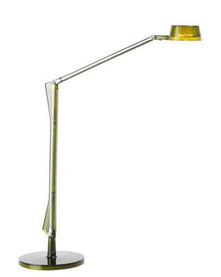 Lampe de table Aledin DEC / LED - Diffuseur rond - Kartell vert en matière plastique