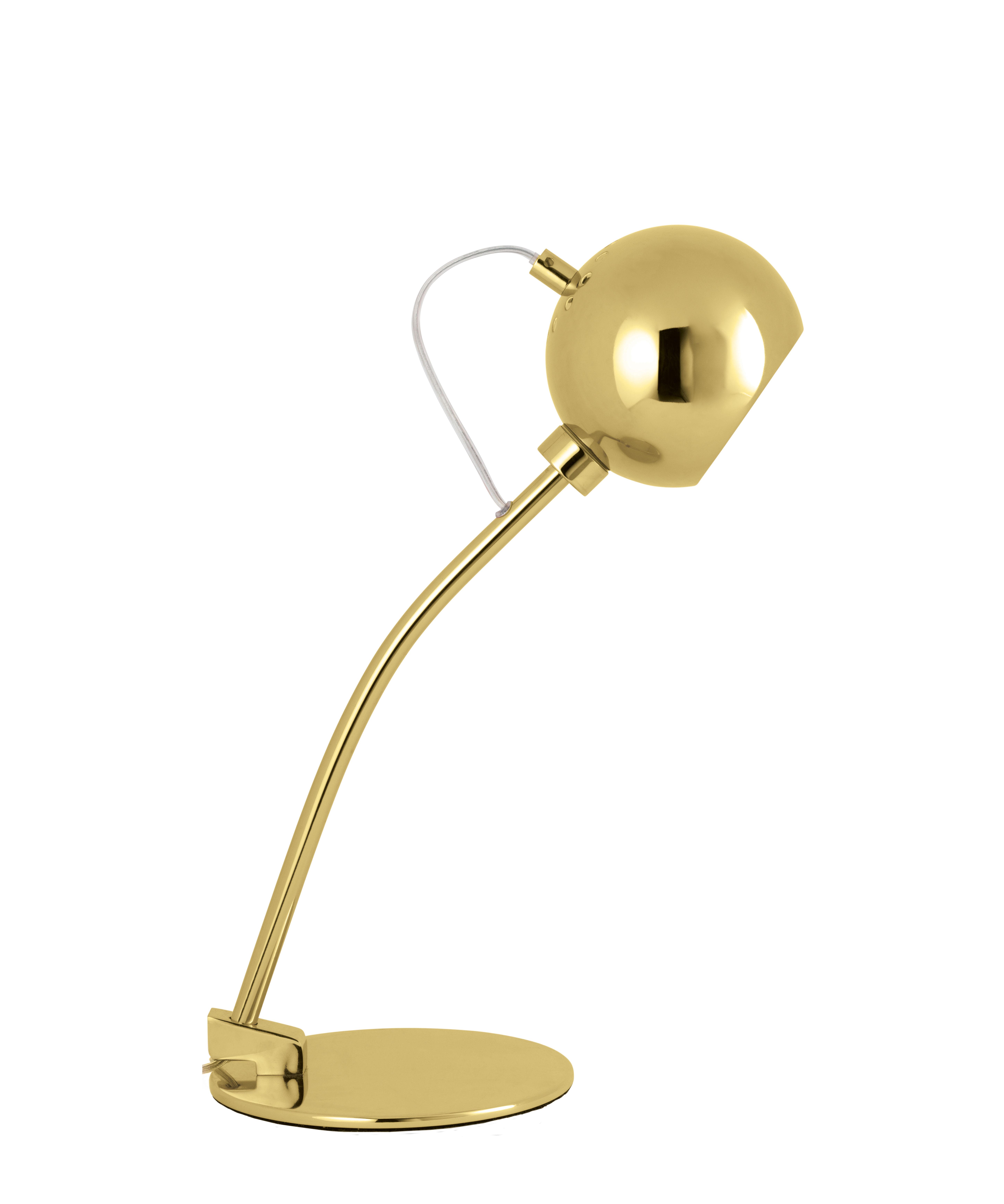 Luminaire - Lampes de table - Lampe de table Ball E14 / H 45 cm - Frandsen - Laiton glossy - Métal peint