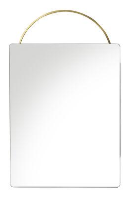 Miroir mural Adorn Small / L 35 x H 53 cm - Laiton - Ferm Living laiton brossé en métal