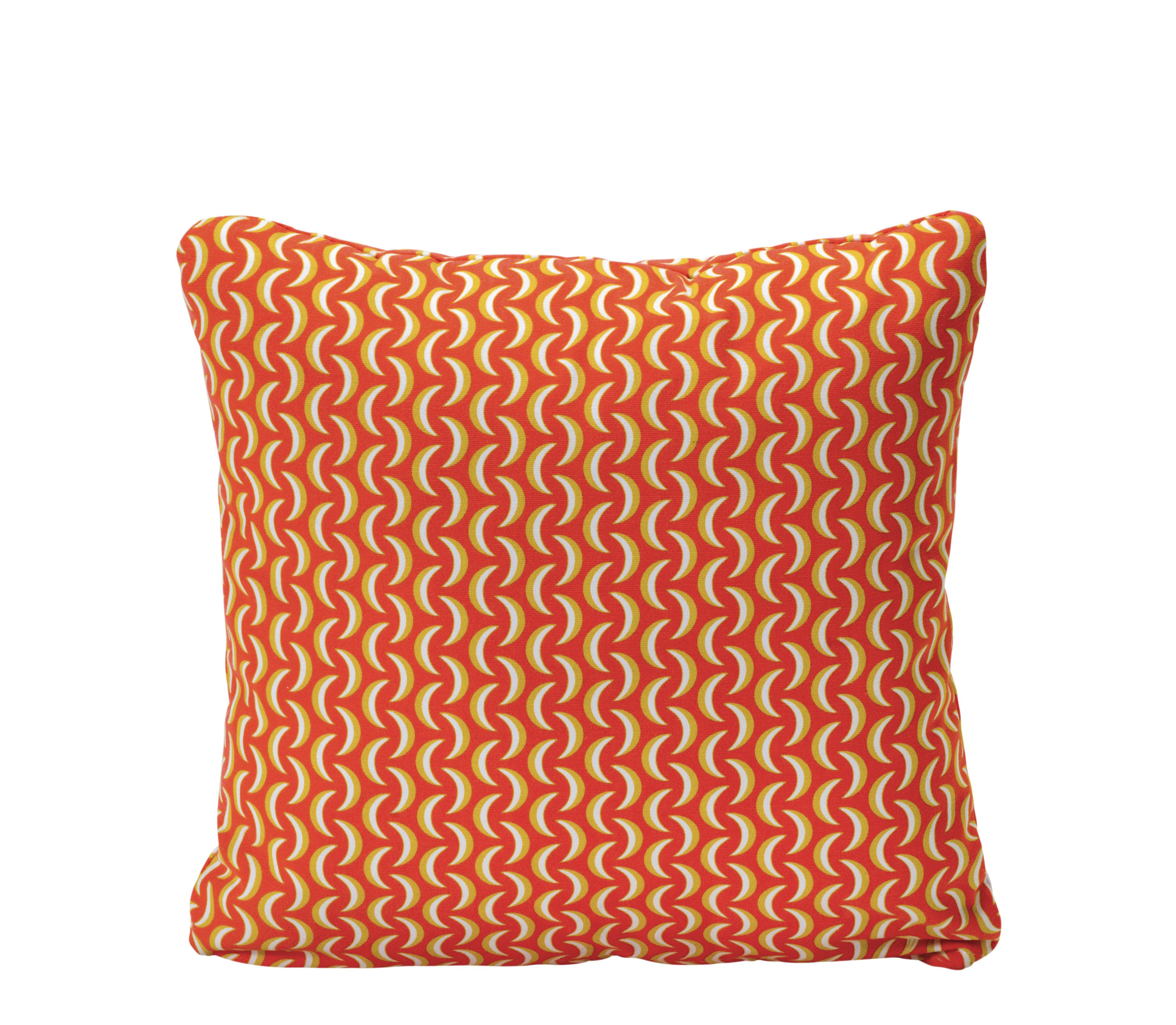 Decoration - Cushions & Poufs - Envie d'ailleurs - Bananes Outdoor cushion - 44 x 44 cm - Outdoor by Fermob - Nasturtium - Cotton