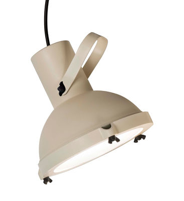 Projecteur 165 Pendelleuchte von Le Corbusier - Neuauflage des Originals von 1954 - Nemo - Sandweiß