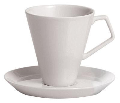 Tavola - Tazze e Boccali - Piattino sottotazza - Per tazza da caffé Anatolia di Driade Kosmo - Piattino bianco - Porcellana