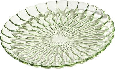 Plat Jelly /Centre de table - Ø 45 cm - Kartell vert transparent en matière plastique