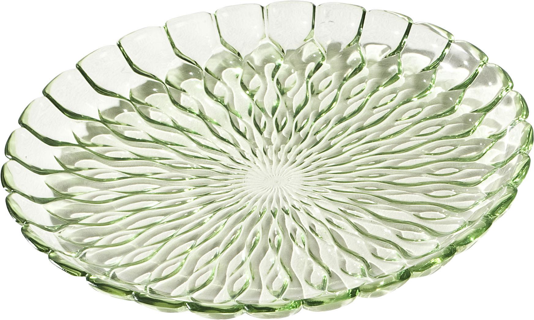 Arts de la table - Assiettes - Plat Jelly /Centre de table - Ø 45 cm - Kartell - Vert transparent - PMMA