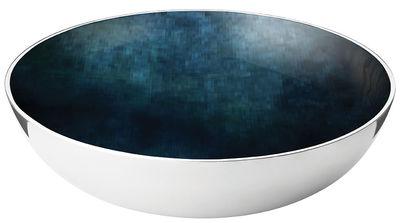 Saladier Stockholm Horizon / Ø 40 x H 11 cm - Stelton bleu/métal en métal/céramique
