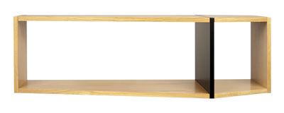 Arredamento - Scaffali e librerie - Mensola Rectangular / L 120 x H 35 cm - POP UP HOME - Quercia / Nero - Agglomerato, MDF