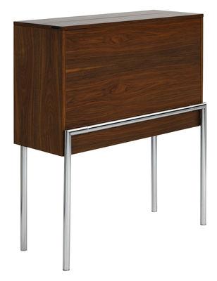 Möbel - Büromöbel - Orcus Sekretär - ClassiCon - Walnuss - Nußbaumfurnier, verchromter Stahl