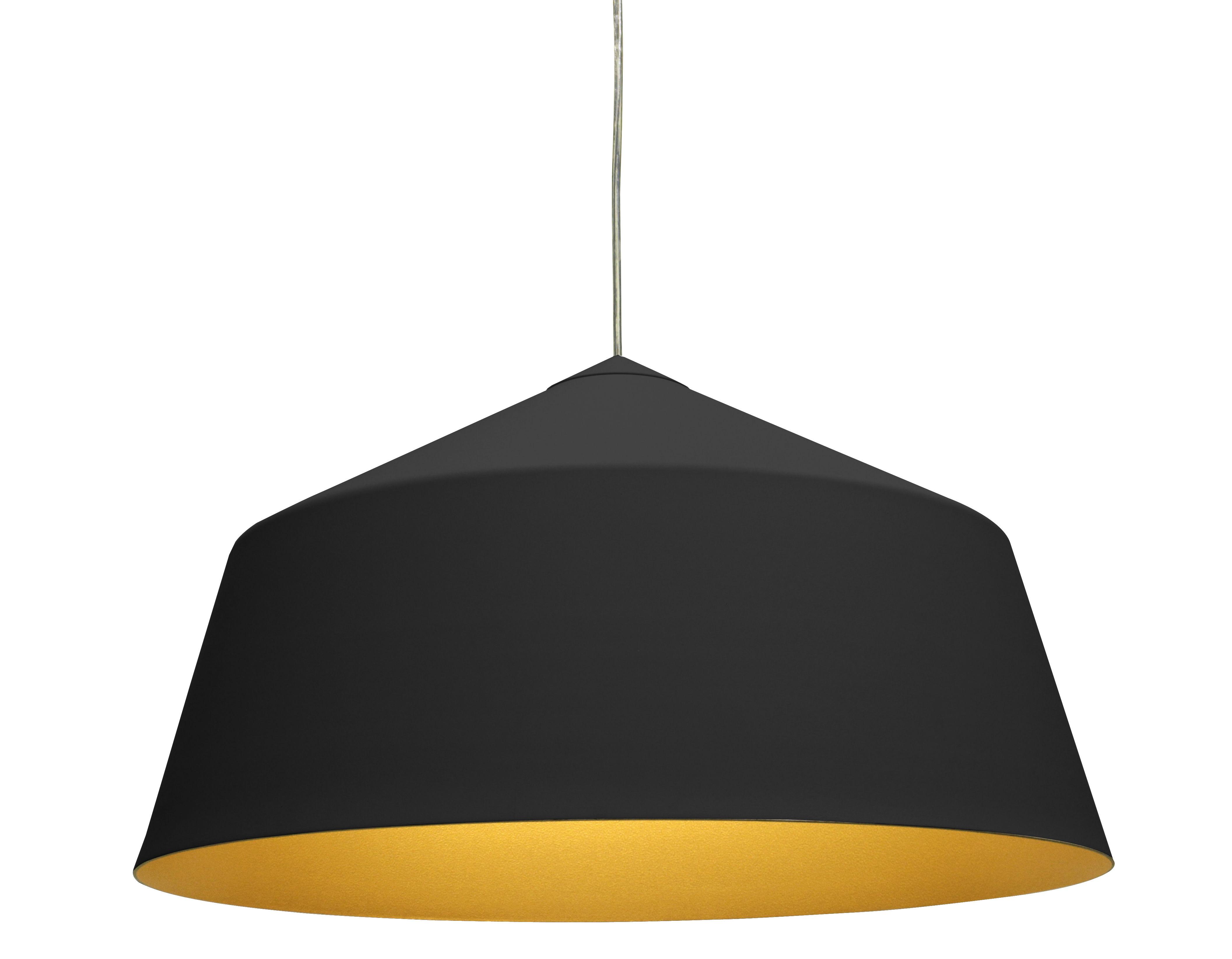 Illuminazione - Lampadari - Sospensione Circus Large - Ø 56 x H 31 cm di Innermost - Nero opaco / Interno dorato - Alluminio