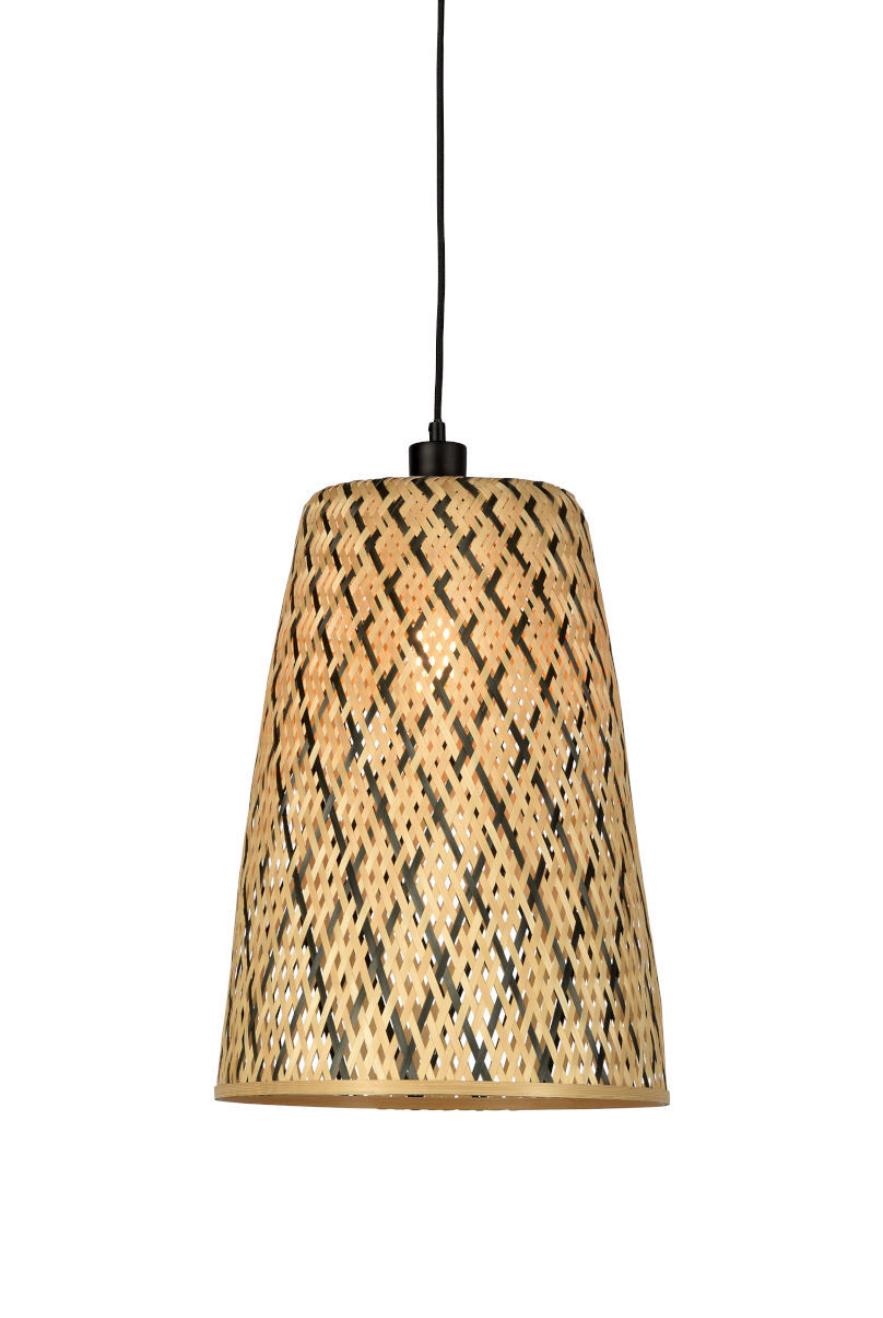 Illuminazione - Lampadari - Sospensione Kalimantan Small - / Bambù - H 48 cm di GOOD&MOJO - Small / Nero & naturale - Bambù