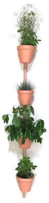 Support mural XPOT / Pour 4 pots de fleurs ou étagères - H 200 cm - Compagnie chêne naturel en bois