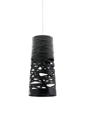 Suspension Tress Mini / Ø 20 cm x H 43 cm - Foscarini noir en matière plastique