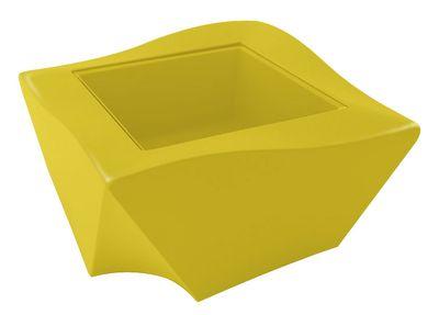 Table basse Kami Ni version laquée - Slide laqué jaune en verre