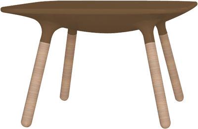 Table basse Marguerite / H 45 cm - Stamp Edition gris en matière plastique/bois