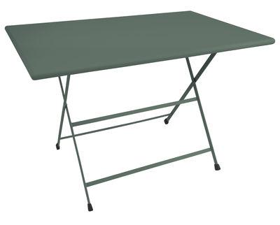 Table pliante Arc en Ciel / 110 x 70 cm - Emu vert en métal