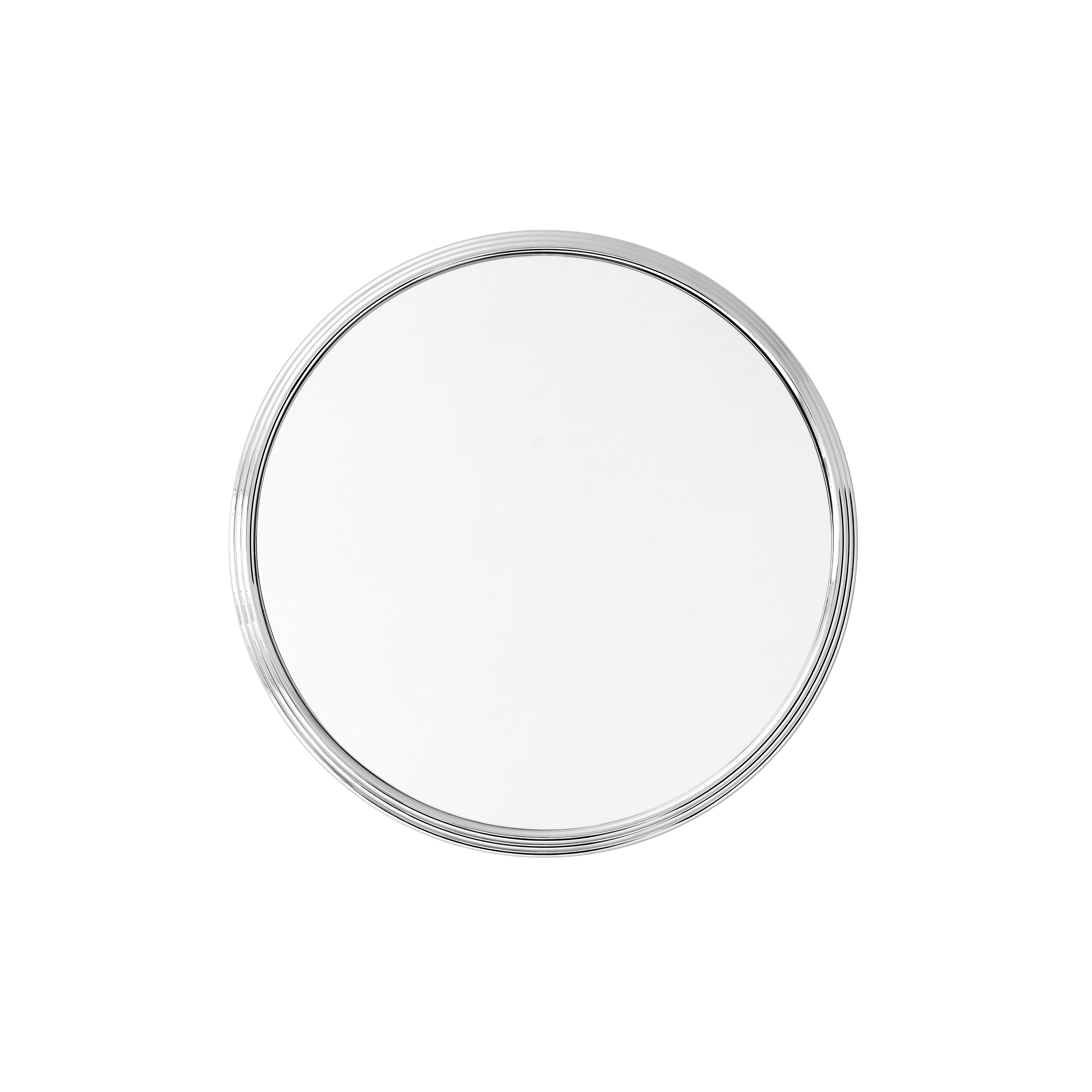 Decoration - Mirrors - Sillon SH4 Wall mirror - / Ø 46 cm by &tradition - Ø 46 cm / Chromed - Chromed steel