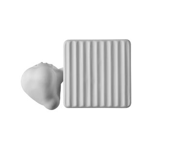 Applique Binarell LED / Tête - Céramique - Karman blanc mat en céramique