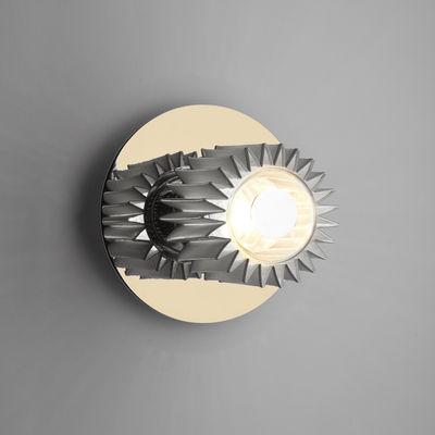Luminaire - Appliques - Applique In the sun Small / Plafonnier - Ø 19 cm - DCW éditions - Doré / Maille argent - Acier, Aluminium, Verre
