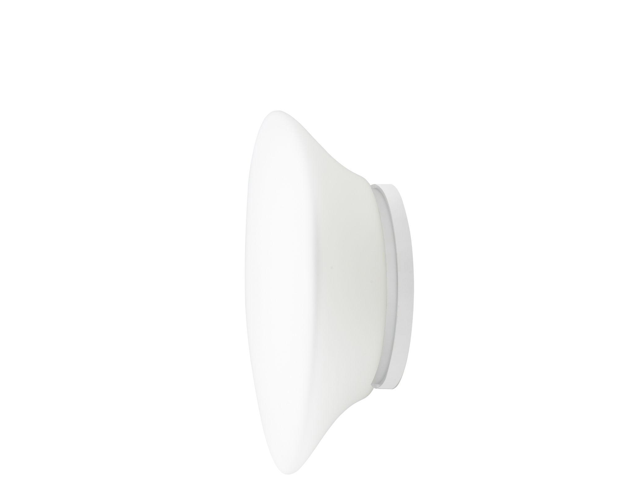 Luminaire - Appliques - Applique Mycena Ø 32 cm - Fabbian - Blanc - H 32 cm - Verre