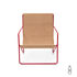 Desert Armchair - / Red structure - Recycled plastic bottles by Ferm Living