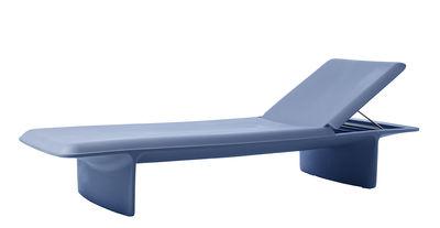 Bain de soleil Ponente / Plastique - Multiposition - Slide bleu en matière plastique