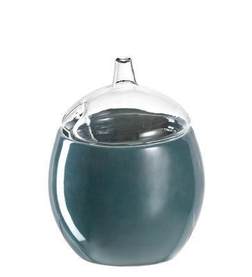 Bol Firenze / Avec couvercle - Ø 10 cm - Leonardo transparent,bleu pétrole en verre